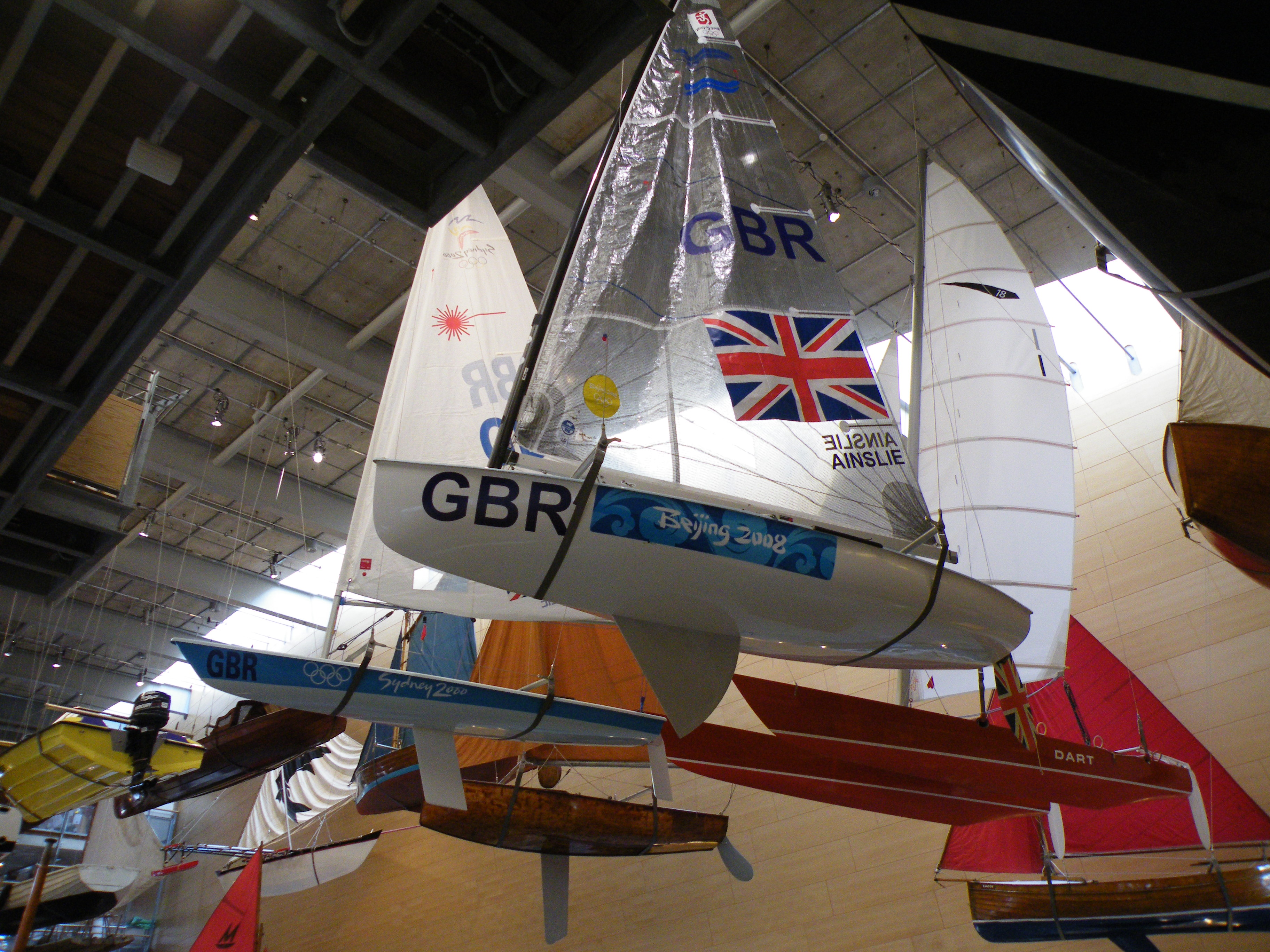 Ben Ainslie's Olympic yachts (Dave Hooley)