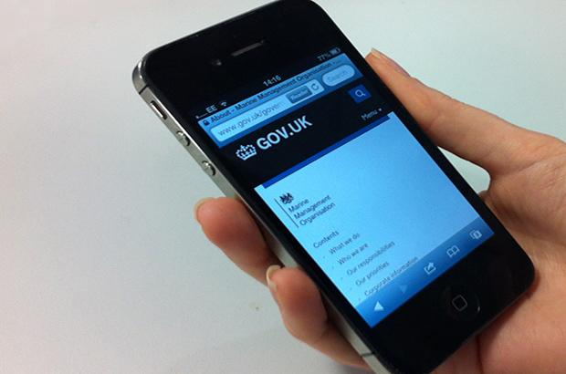MMO website on smartphone
