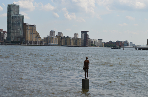 Image of Antony Gormley statue in the Thames
