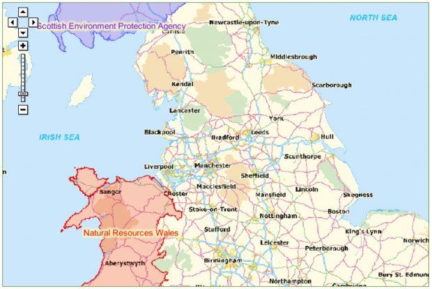 Flood plan map