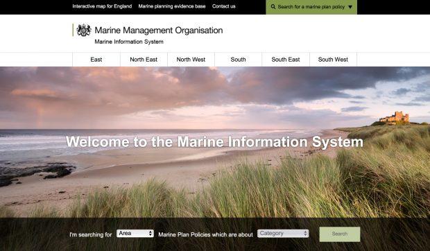 Marine Information System website