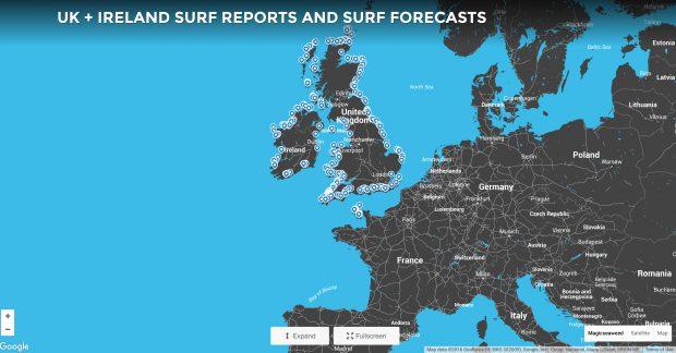 Magic Seaweed website map