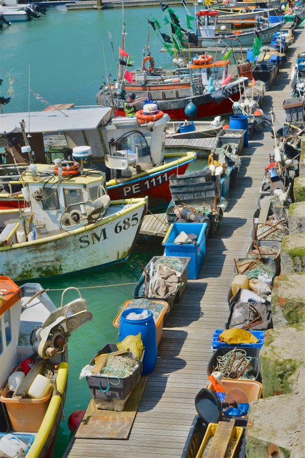 Brighton, England - June 11, 2015: Fishing boats at Brighton Marina, East Sussex, England