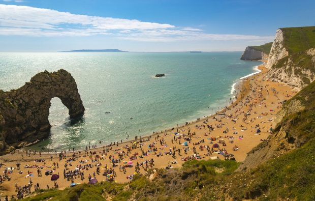 Dorset Coastline on a hot summer day