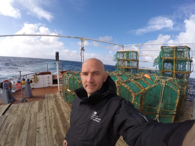 MMO Officer takes part in an enforcement patrol around the island of Tristan da Cunha