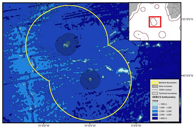 Satellite image of Tristan da Cunha
