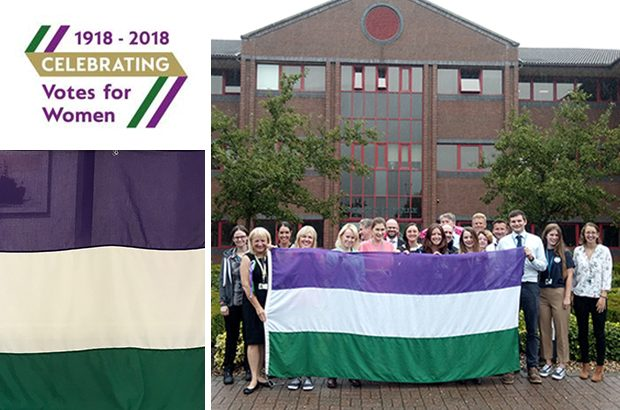 suffrage flag relay MMO Newcastle