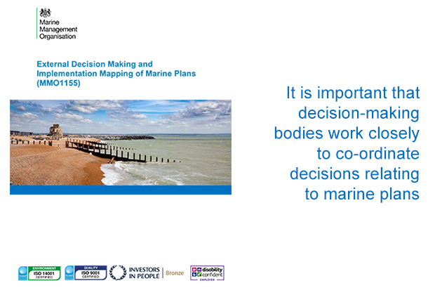 Front page of marine planning research report.