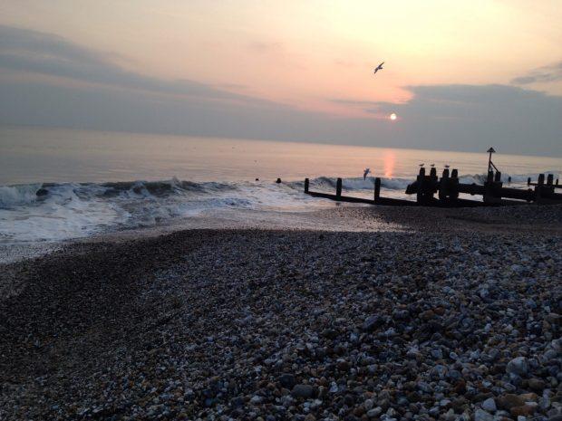 coast at dusk