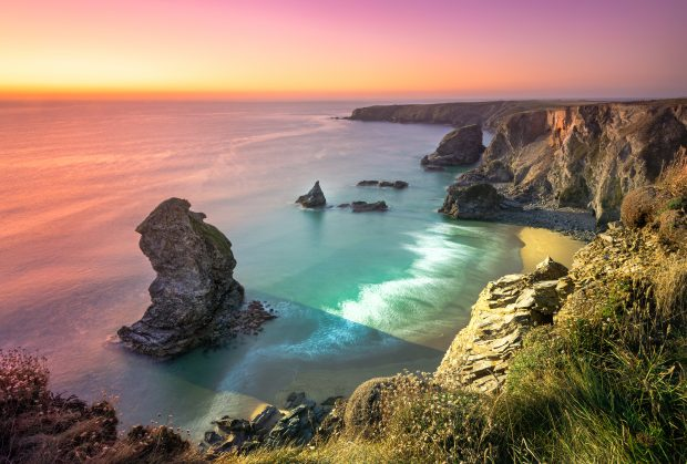 English coast, Cornwall